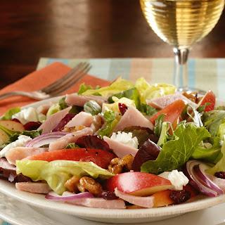 Autumn Apple, Ham and Goat Cheese Salad.