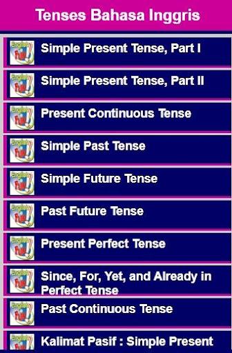 【免費書籍App】Tenses Bahasa Inggris-APP點子