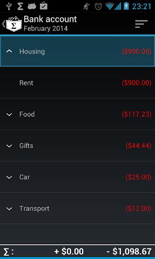 My Expenses Contrib Key screenshot 2