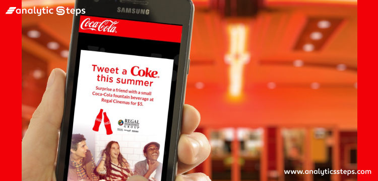 The image shows the use of AI by Coca-Cola in target advertising.