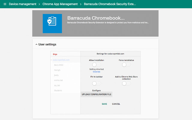 Barracuda chromebook security extension chrome web store barracuda chromebook security extension is designed to protect you from malicious and inappropriate web content ccuart Images