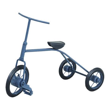 Prydnadscykel - Trehjuling, blå
