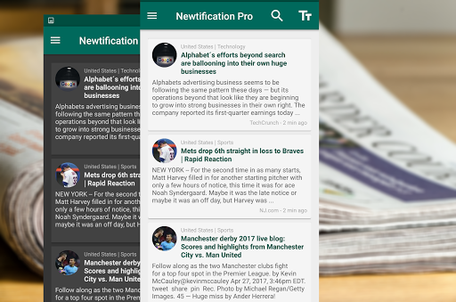 Newtification News app for Android screenshot