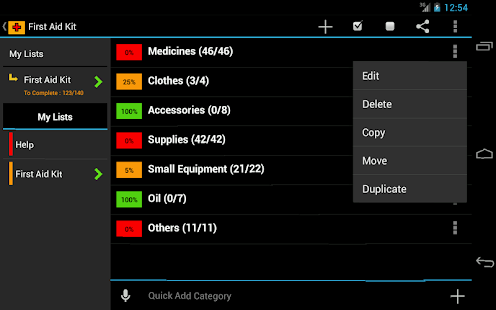 First Aid Checklist- screenshot thumbnail