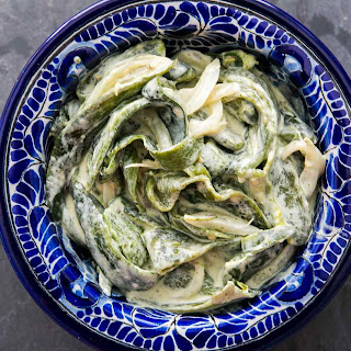 Roasted Poblanos in Cream Sauce (Rajas Con Crema) Recipe