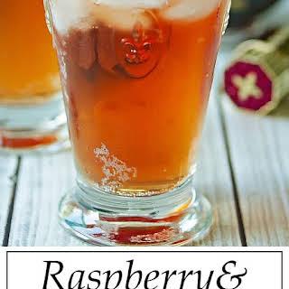 Chambord & Ginger Beer Cocktail.
