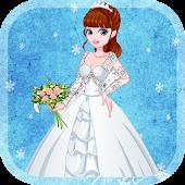 Snowy wedding day – Dress up