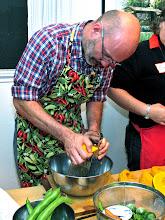 Photo: Giorgio grating peeled kabocha