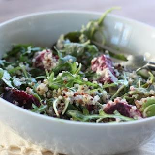Arugula, Beet & Quinoa Salad with Lemon Tahini Dressing