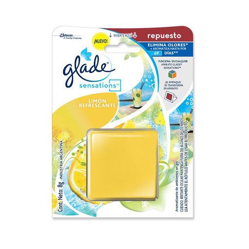 ambientador glade sensations fresh lemon repuesto 8gr