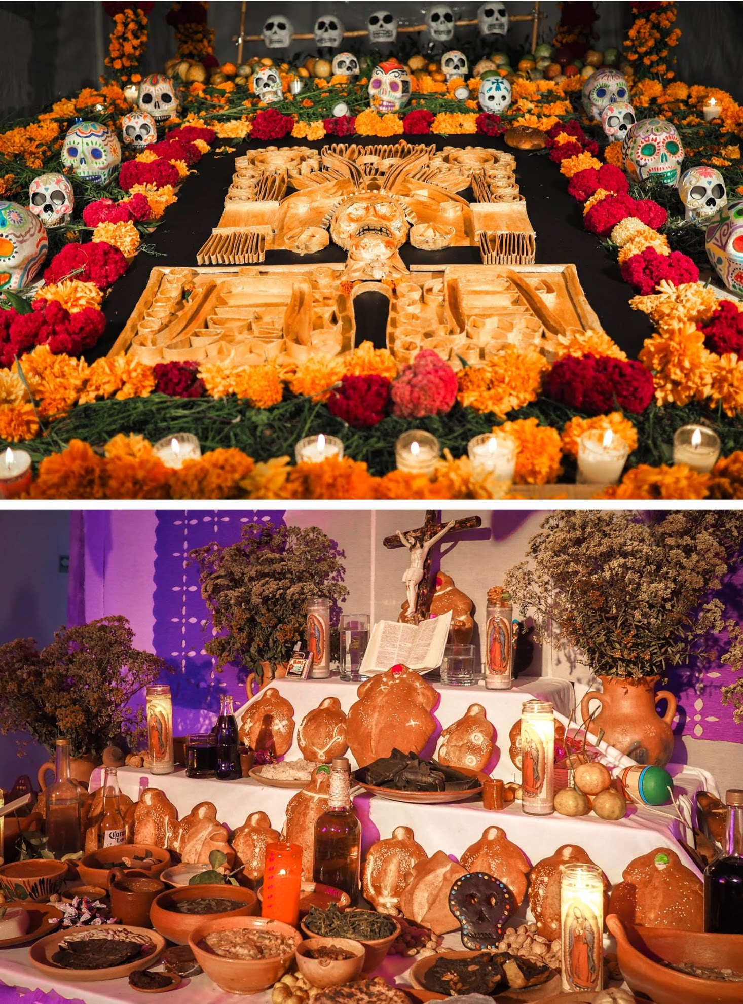 You'll see a lot of ofrendas in Oaxaca during Dia de Los Muertos