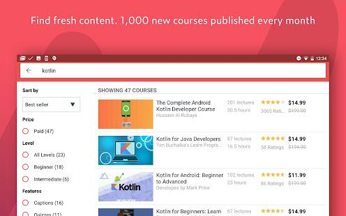 App Udemy - Online Courses APK for Windows Phone