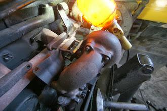 Photo: Der Turbo wird ein Stück weg gerückt