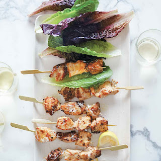 Chicken Caesar Salad Skewers