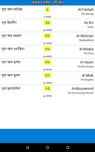 7 Surah Bangla