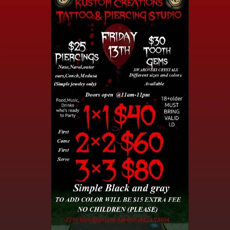 Kustom Creations Tattoo Piercing Studio Tattoo And Piercing