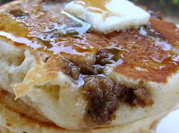 Sausage Pancakes Joined As One Recipe