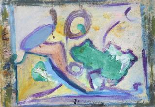 """Photo: """"Postillon du peintre"""". Peinture à l'huile sur couche d'isolant pour bâtiment, 25x37cm, format horizontal."""