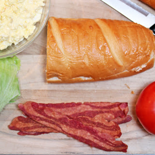 Egg Salad-BLT Sandwich.