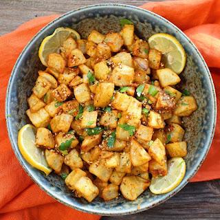 Moroccan Harissa Potatoes.