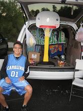 Photo: Rob dons his Carolina jersey with pride. Go Tarheels!