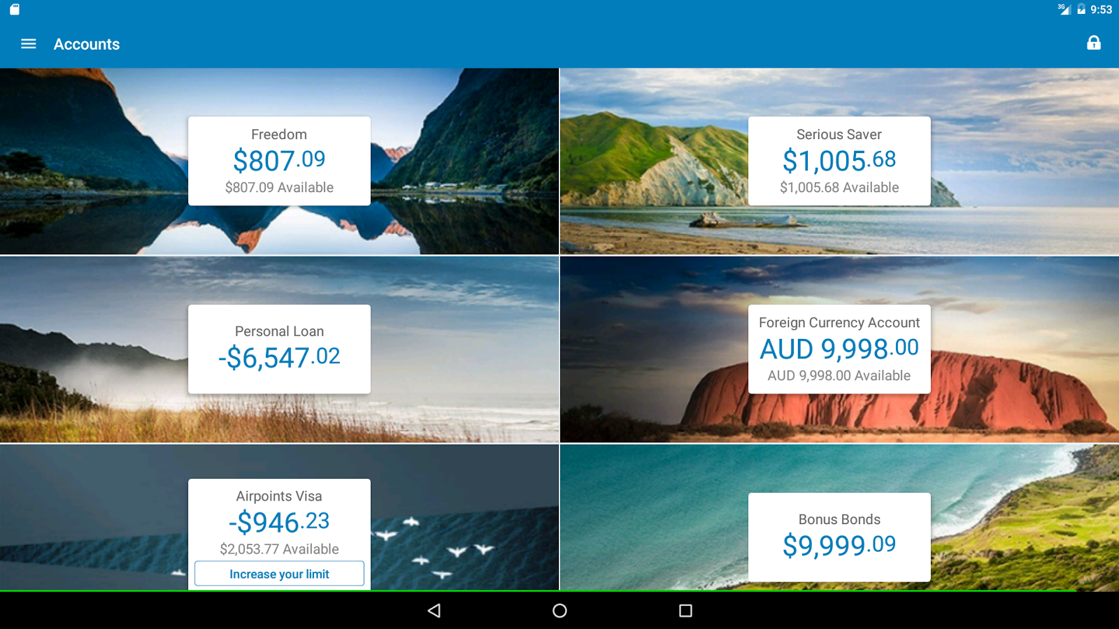 how to add account to anz go money