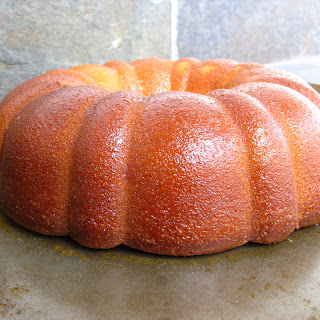 Lemon-Ginger Pound Cake with Lemon-Pineapple Preserve Glaze