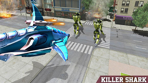 Warrior Robot Sharku2013 Shark Robot Transformation apktram screenshots 17
