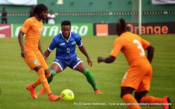 Photo: Mustpaha Dumbuya [Leone Stars v Ivory Coast, 6 September 2014 (Pic © Darren McKinstry / www.johnnymckinstry.com)]
