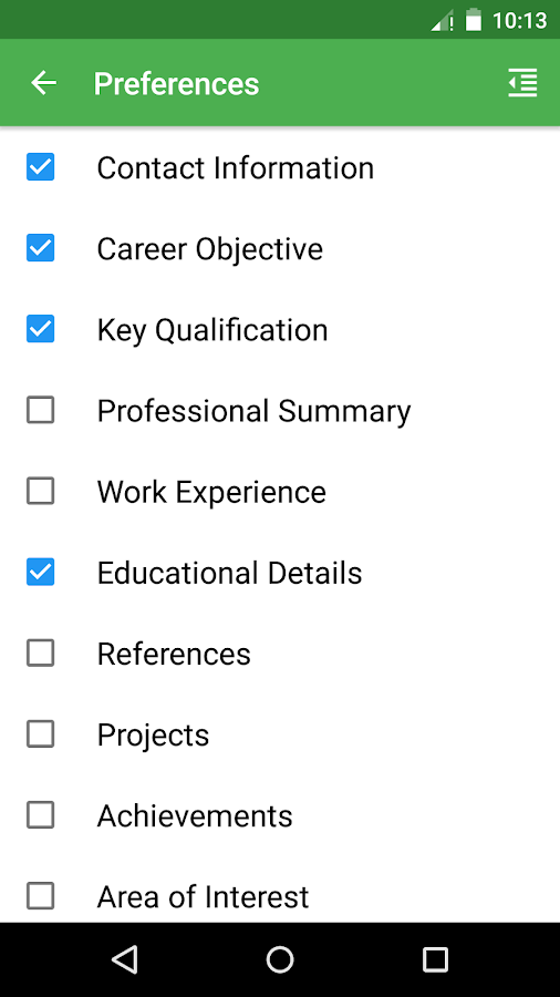 resume pdf file builder android apps on google play