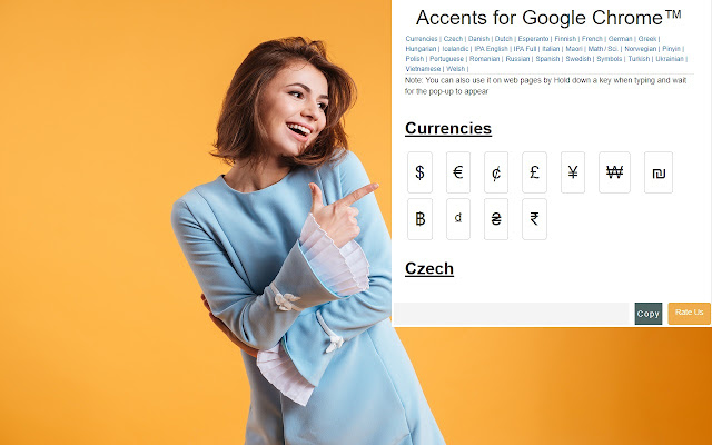 Accents for Google Chrome™