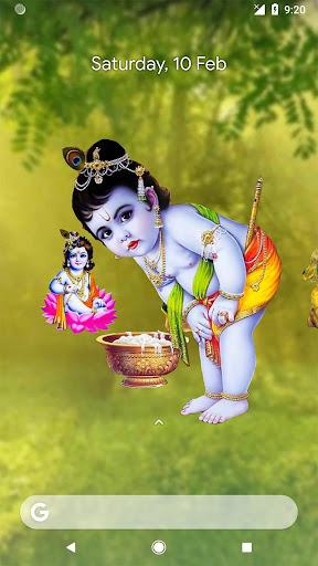 4d Little Krishna App Live Wallpaper By Just Hari Naam Google