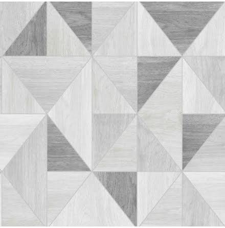Apex Wood Grain Geometric Tapet