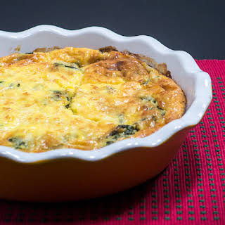 Sweet Potato Crusted Spinach Quiche.
