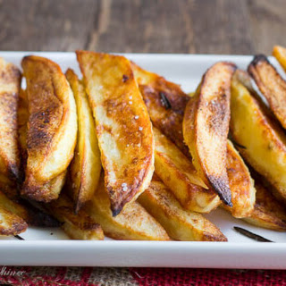 Garlic Rosemary Baked Steak Fries.