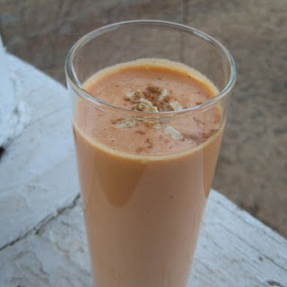 "Maple-Roasted ""CarrOat"" Cake Smoothies"