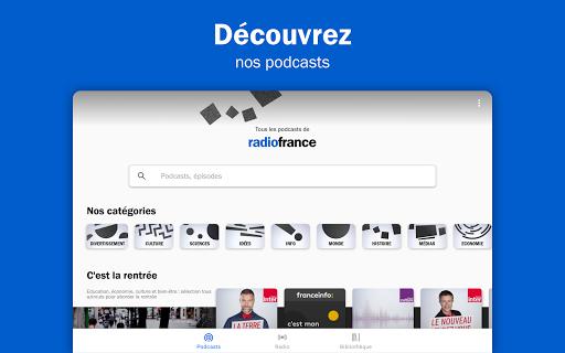 Radio France - podcasts, direct radios 6.5.2 screenshots 8