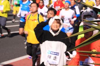 Photo: パンダのきぐるみが、僕の方を見つめてます。