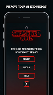 StrangerQuiz - Stranger Things Quiz App