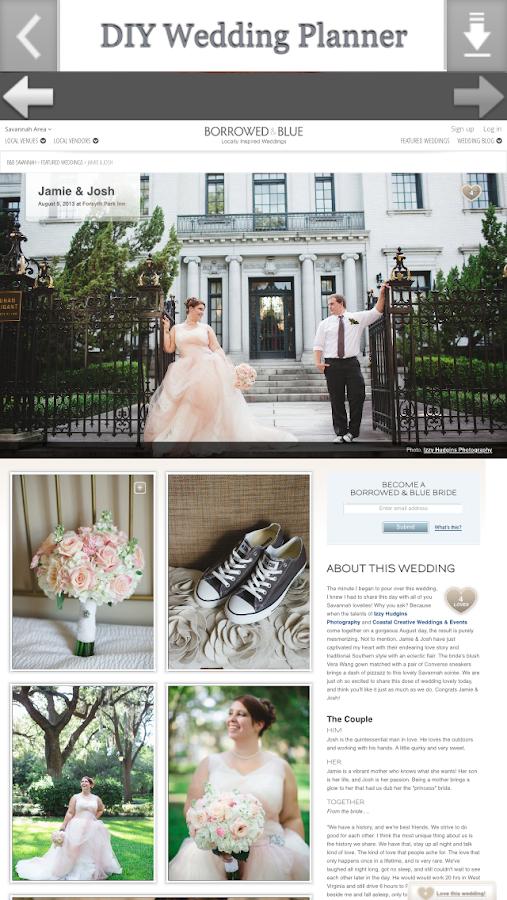 DIY Wedding Planner Screenshot