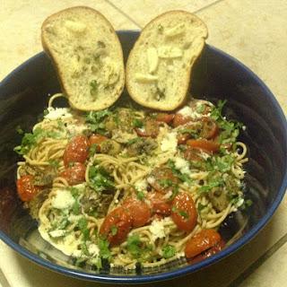 Taste and The Tomato and Mushroom Spaghetti