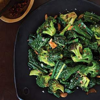 Sautéed Broccoli & Kale with Toasted Garlic Butter.
