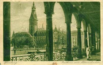 Photo: Pocztówka z Hamburga adresowana do rodziny Muller w Kornowacu.