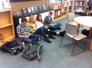 Photo: Researching with iPads
