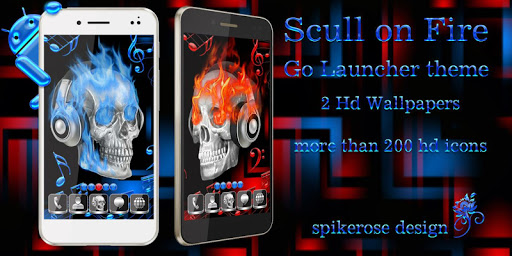 Scull on Fire Go Launcher EX