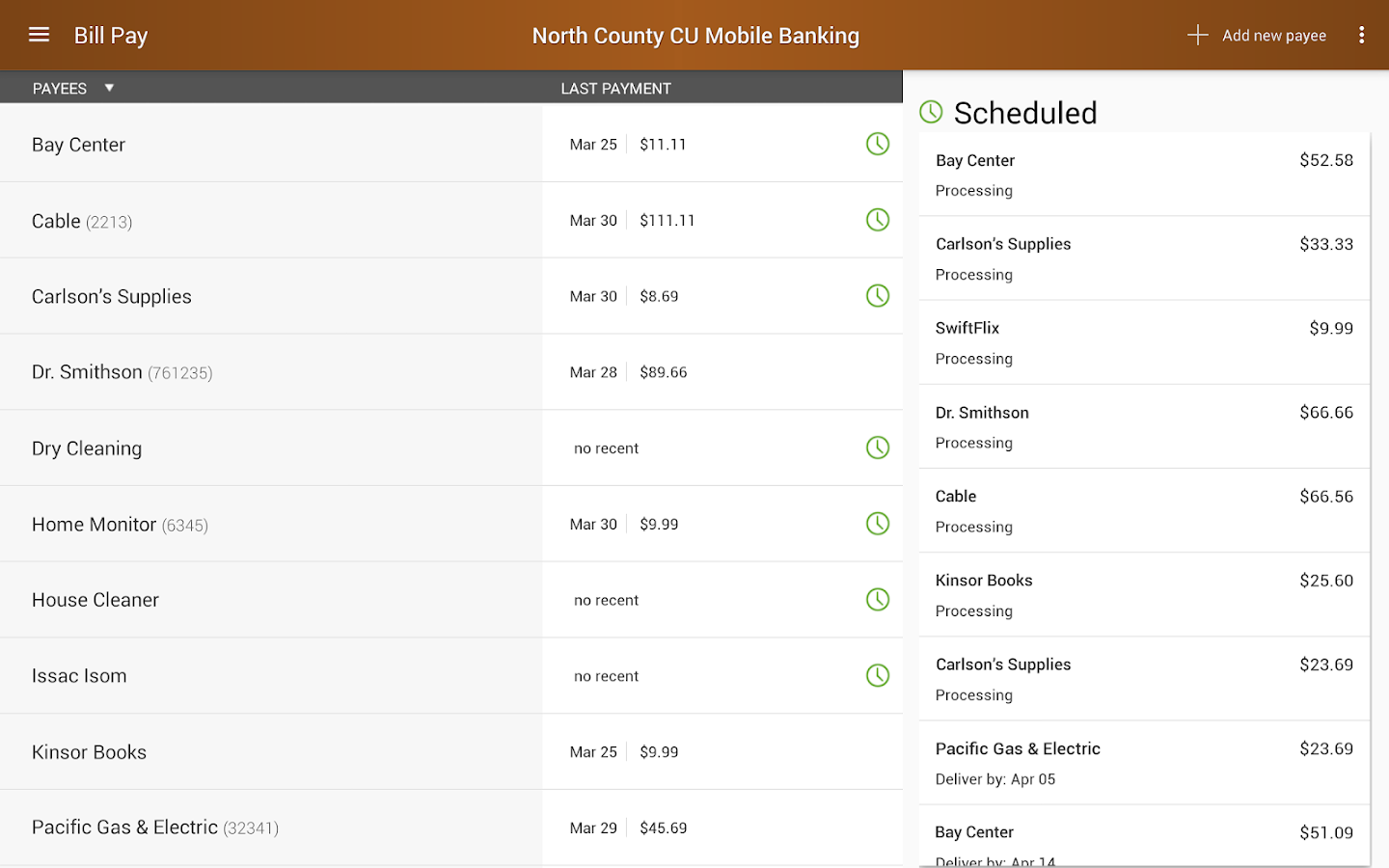 North County CU Mobile Banking- screenshot
