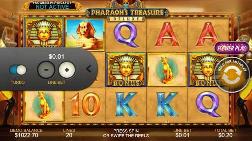 Casino Free Reel Game - PHARAOHS TREASURE DELUXE 1.0.1 screenshots 2