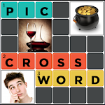 Pic Crossword puzzle game quiz Icon