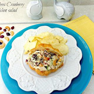 Cashew-Cranberry Chicken Salad Sandwiches.
