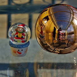 by Ciprian Apetrei - Public Holidays Christmas ( reflection, christmas, brittany, decorations, globe )